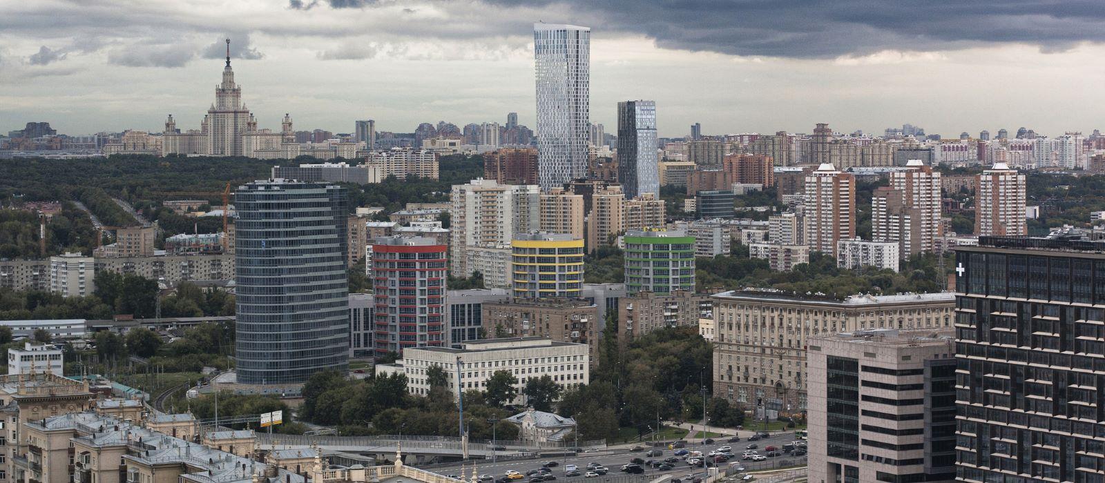 Panoramablick Moskau
