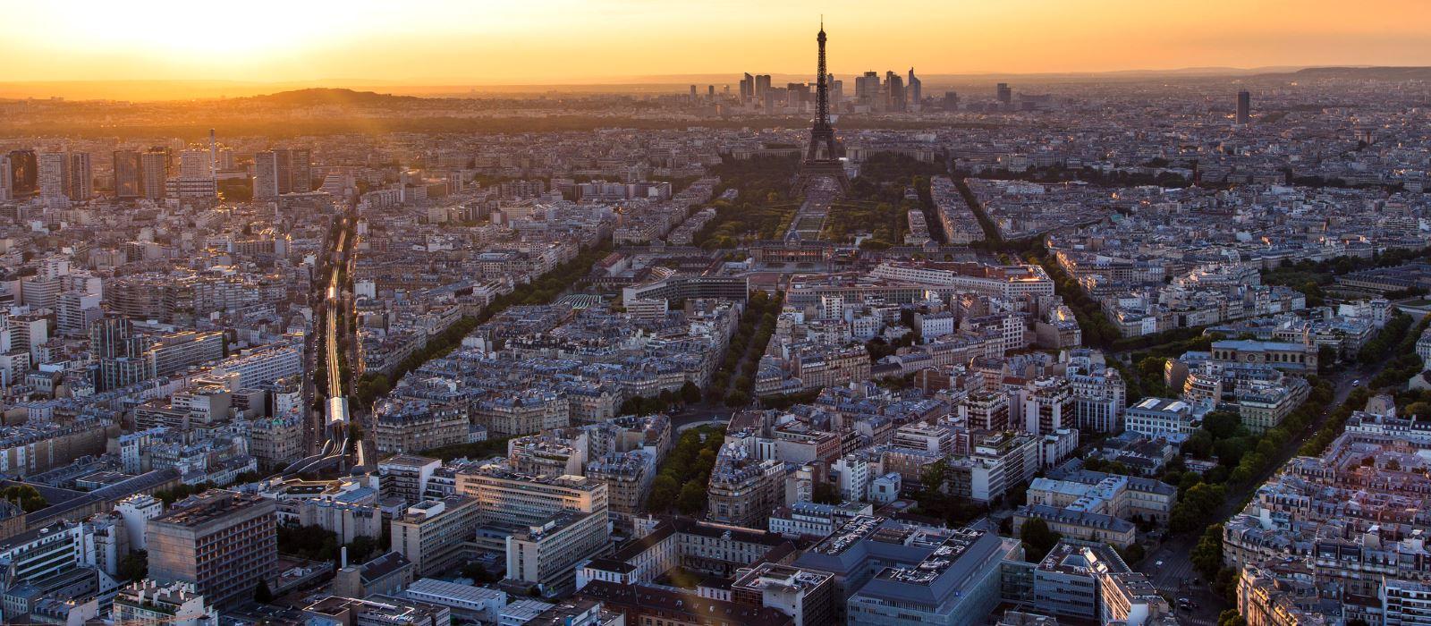 Paris groß viele Häuser