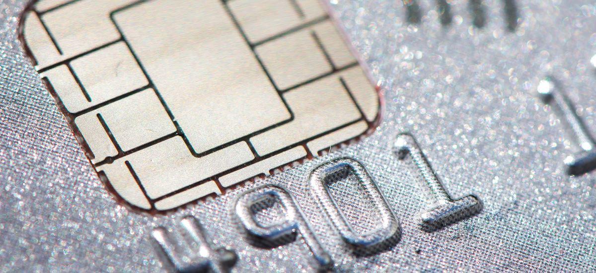 der Chip einer Chipkarte