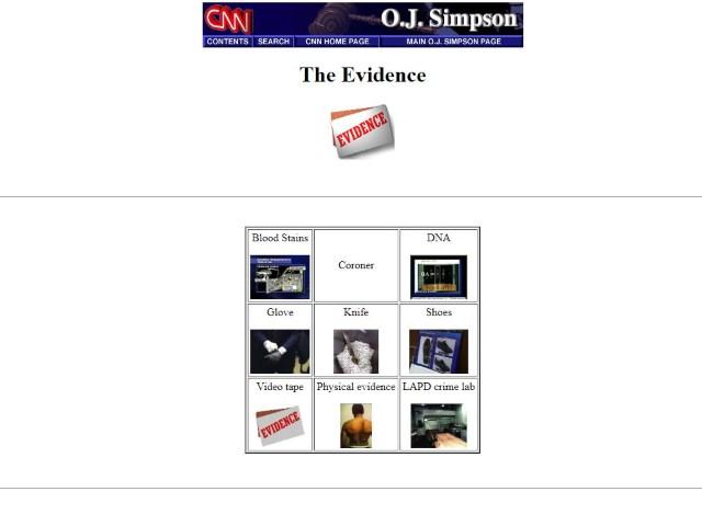 alte unveränderte Internetseite