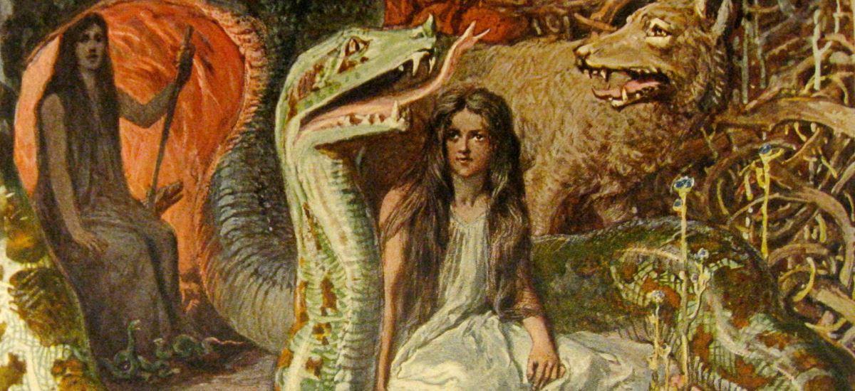 Gemälde germanische Göttin Hel