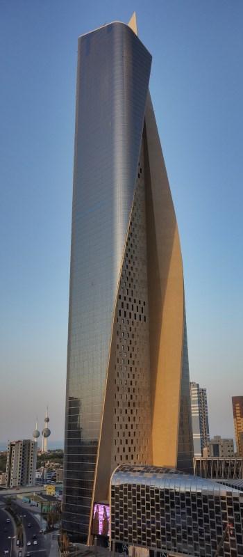 Skulptural geformter Wolkenkratzer