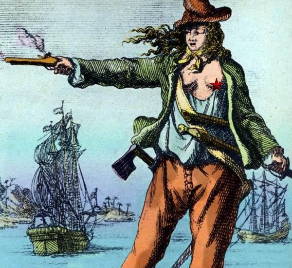 weiblicher Pirat offenherzig