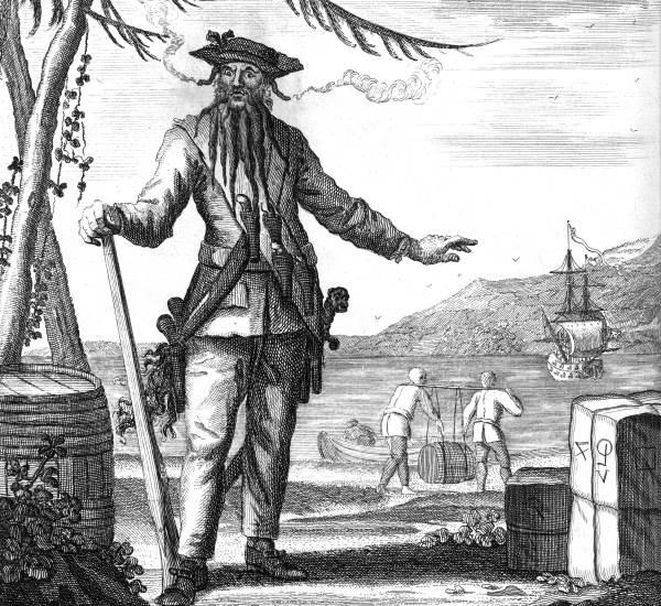 Zeichnung gefährlicher Pirat