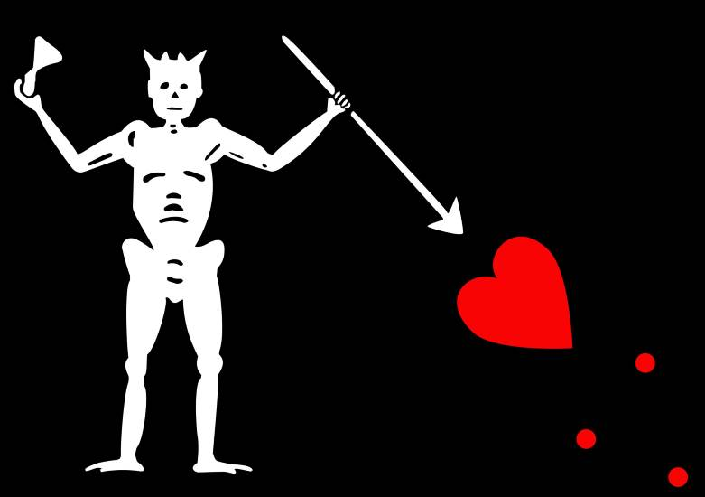 Skelett und herz