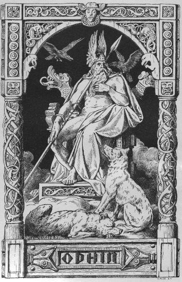 mächtiger Gott auf Steinthron