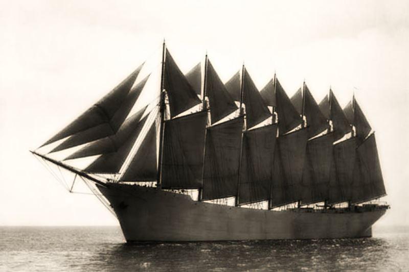 die grössten Segelschiffe
