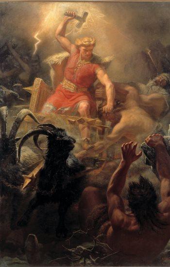 germanischer Gott Thor schön blond